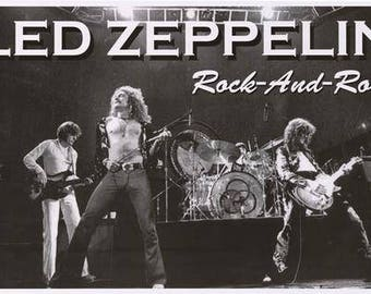 Led Zeppelin Band Live Rock n Roll Rare Poster
