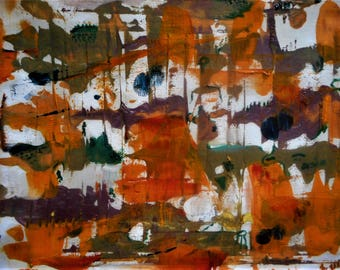 """Original Abstract Oil Painting by Nalan Laluk: """"Butterflies"""""""
