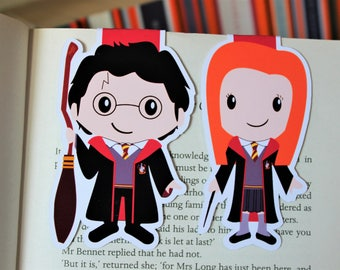Wizard and Witch Bookmarks   Harry and Ginny