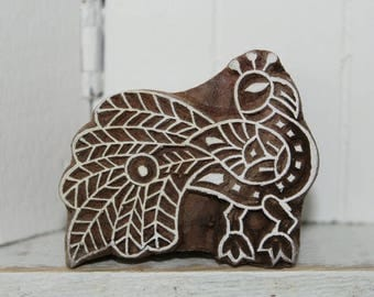 Indian Peacock hand carved wood stamps