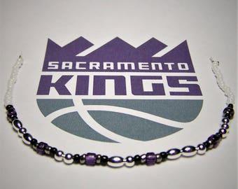 Kings Bracelet, Morse Code Bracelet, Basketball Bracelet