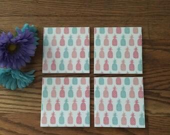 Pineapple coasters-set of 4
