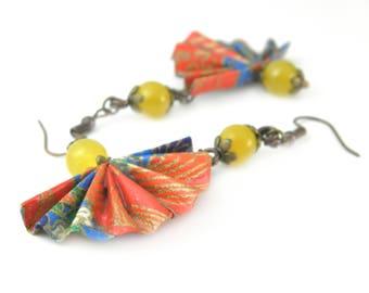 Origami earring fan