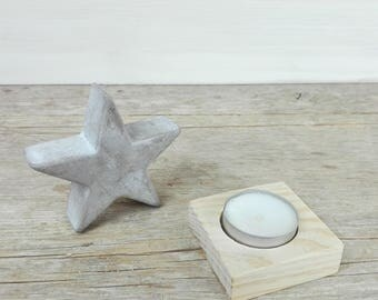 Block candle holder (candle 1)