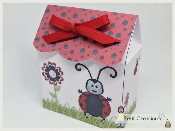 printable treat box ladybug diy digital template gift idea