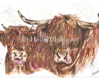 Highland cows Limited edition print