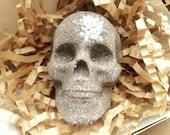 Skull bath bomb, grey skull, gray skull bomb, men's bath bombs, bubble bar set, wood-spicy bomb, glitter bomb, asphalt color, loveinreturn