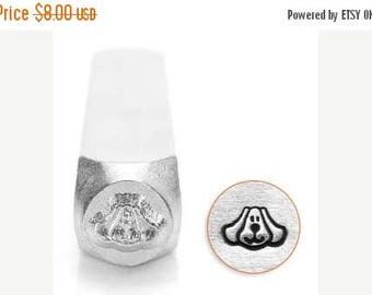 ON SALE Impress Art 6mm Dog Face Metal Stamp (SC156-A-6Mm)