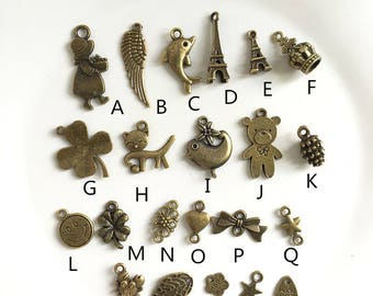 10pcs Antiqued bronze Charms Pendants