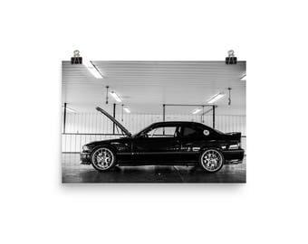 BMW Race Car Poster
