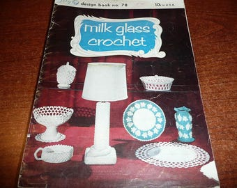 Vintage Milk Glass Lily Book