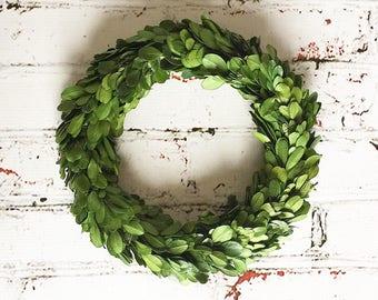 "Boxwood Wreath, Preserved Boxwood Wreath, 8"" boxwood wreath"