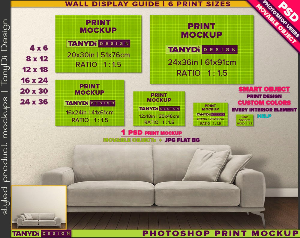 Wall decals choose an option 8x12 in 16x24 in 24x36 in -  Zoom