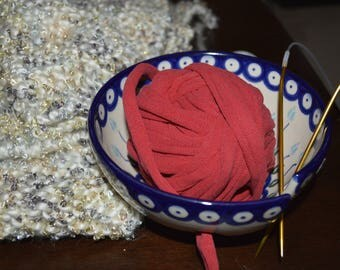 Red T-shirt Yarn Upcycled
