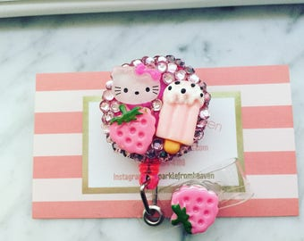 Hello kitty Inspired ID clip