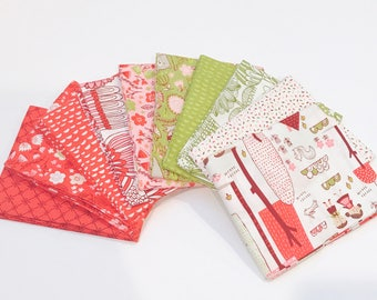 SALE!! Fat Quarter Bundle Just Another Walk Into the Woods by Stacy Iset Hsu for Moda- 10 Fabrics