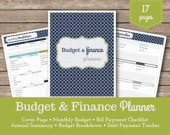 Budget & Finance Planner / Financial Planner / Finance Organizer / Budget Planner / Payment Checklists / Household Budget