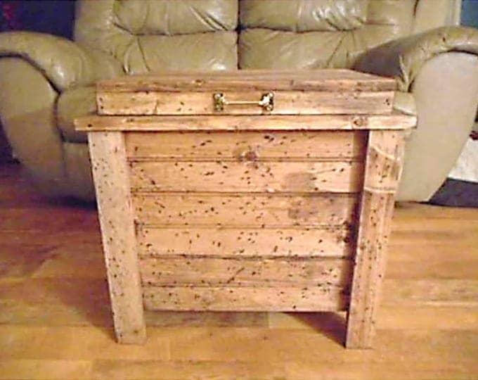 Wood Storage Box Hidden Compartment