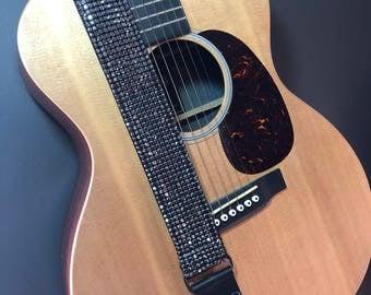 Crystal Guitar Strap, Onyx, Rhinestone Guitar Strap