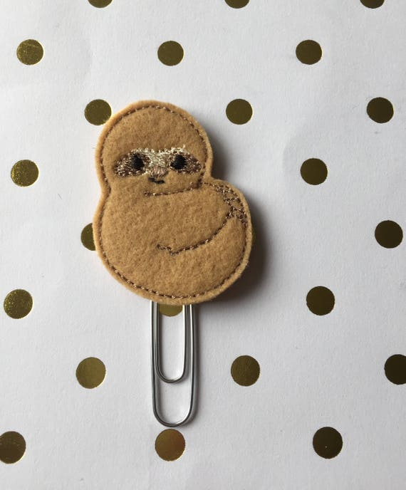 Lazy Sloth planner Clip/Planner Clip/Bookmark. Sloth Planner Clip. Animal Planner Clip