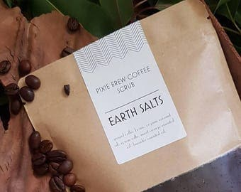 Pixie Brew Coffee Body & Face Scrub || Natural || Skincare || Small Batch || Exfoliate || Coffee || Pamper