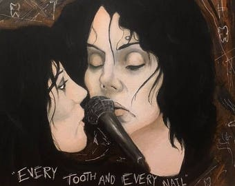 Jack White and Allison Mosshart The Dead Weather painting