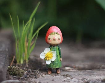 little wooden doll Strawberry