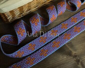 Beautiful tablet weaving trim, viking medieval, reenactment, sca, larp