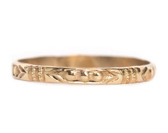 Circa 1890's Victorian 10K Yellow Gold Baby Ring - VEG#878