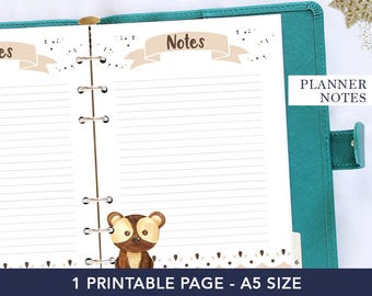 Woodland notepads - Note pads for teachers - A5 agenda refill - To do list notepad funny - Homeschool planner printable - Planner for mom