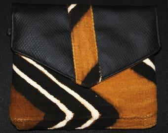 Bogolan Clutch Bag-clutch evening Ankara Print Bag - African Print Bag - Ankara Evening Bag - clutch evening bogolan woven