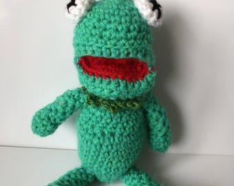 Crochet Kermit the frog