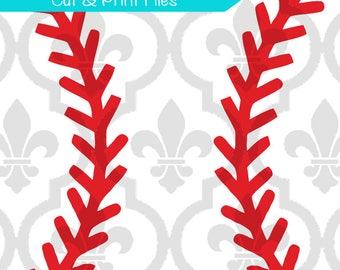 Baseball laces Cutting or Printing Digital File SVG