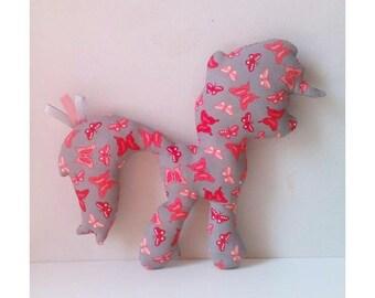 Plush Pony butterflies Roses for children, babies