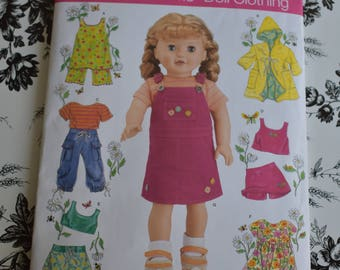 "Simplicity 4654 Doll Clothes for 18"" American Girl Doll"
