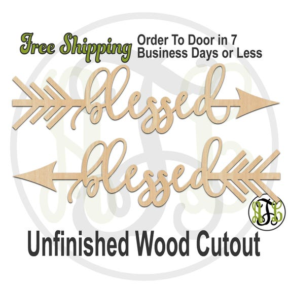 blessed Directional Arrows - 325083-84, Wedding Cutout, unfinished, wood cutout, wood craft, laser cut, wood cut out, direction, tribal