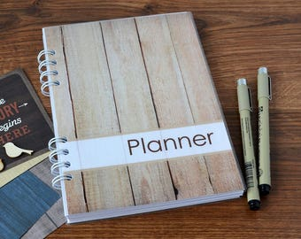 Personalized planner notebook 2017 2018 planner monthly weekly planner Undated planner To Do notebook calendar Agenda organizer Schedule