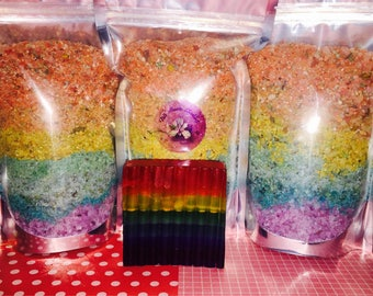 Rainbow bath salt - Chakra bath salts - Rainbow bath soak - Chakra bath salts blend.