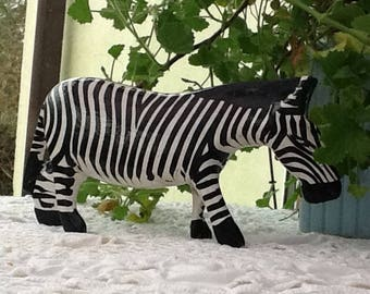 Zebra, wooden zebra, painted zebra, carved wood zebra, black and white, wild animal, zoo animal