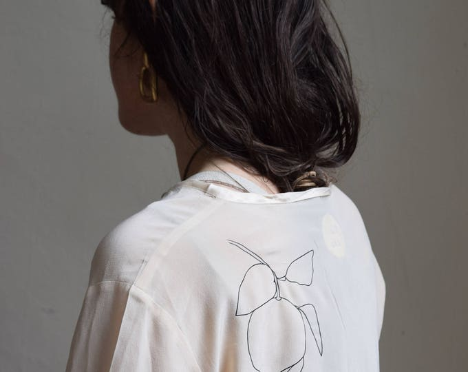 clementine keyhole silk long sleeve.