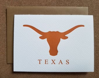 Letterpressed Texas Cards