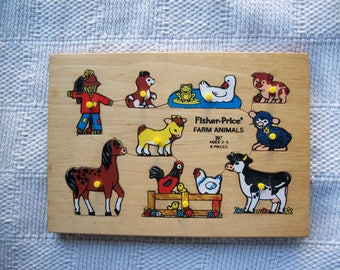 Fisher Price Farm Animals Wooden Puzzle 507