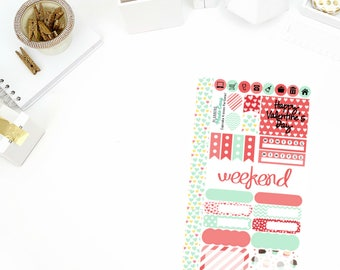 Cupcake Kisses Personal Weekly Kit Stickers! Perfect for your Erin Condren Life Planner, calendar, Paper Plum, Filofax!