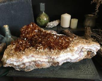 Large Citrine Cluster / Raw Crystal Cluster / Citrine Crystal Cluster / Big Crystal Healing Crystals / Mineral Specimen / Crystal Home Decor