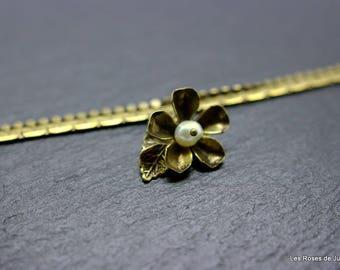 Flower art deco bracelet