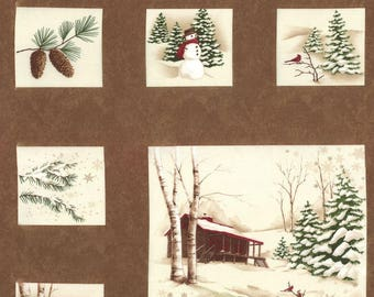 Holiday in the Pines by Holly Taylor for Moda Fabrics  6510-14 approx 24 x 44 per panel