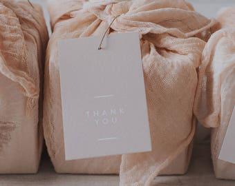 Pretty blush peach gift tag - Thank you Tag - Gift Tag - Wedding Favour Tag
