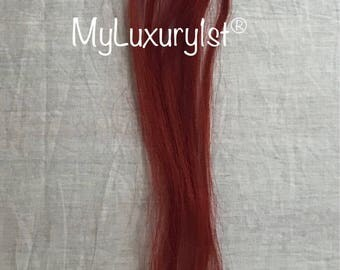 10 pieces Red Orange Remy Micro Loop human hair Handmade microbead tips hair extensions highlight streaks MyLuxury1st fusion tip top brand