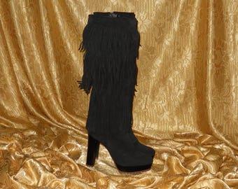 Genuine vintage boots - genuine leather