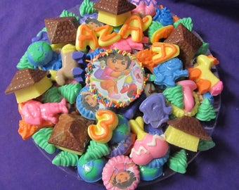 Dora Spanish girl chocolates candy tray